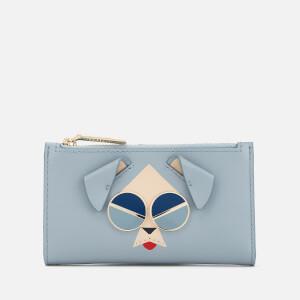 Kate Spade New York Women's Spademals Mod Dog Wallet - Horizon Blue