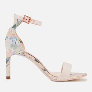 Ted Baker Women's Ulaniip Satin Barely There Heeled Sandals - Elegant Pink