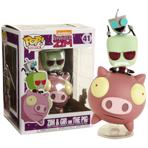 Figurine Pop! Ride Invader Zim sur Cochon - Invader Zim