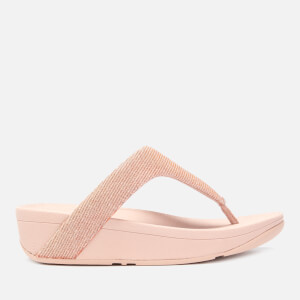 29cb1eab4 FitFlop Women s Lottie Glitzy Toe Post Sandals - Rose Gold
