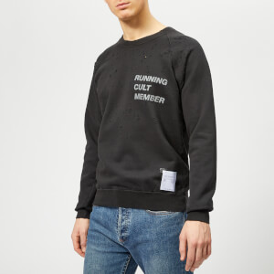 Satisfy Men's Cult Moth Eaten Sweatshirt - Wash Black