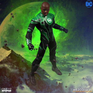 Mezco DC Comics The Green Lantern Light-Up 1/12 John Stewart Action Figure 17cm