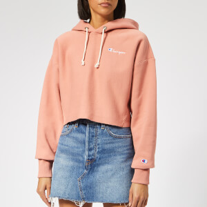 Champion Women's Cropped Hoodie - Pink