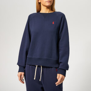 Polo Ralph Lauren Women's Long Sleeve Raglan Po Long Sleeve Sweatshirt - Cruise Navy