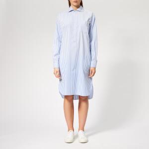 Polo Ralph Lauren Women's Chigo Shirt Dress - Blue/White