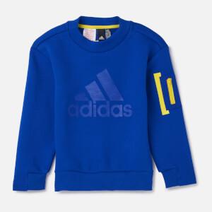 adidas Young Boy ID SPCR Crew Neck Sweatshirt - Blue