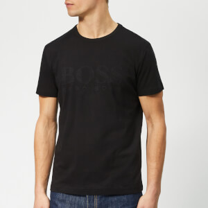 BOSS Men's Basic Large Brand Chest T-Shirt - Black