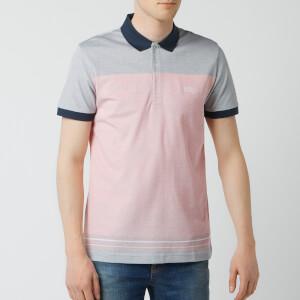 BOSS Men's Paddy 4 Colour Block Polo Shirt - Red/Navy
