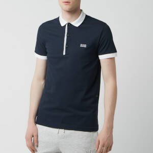BOSS Men's Paule 4 Placket Logo Polo Shirt - Navy
