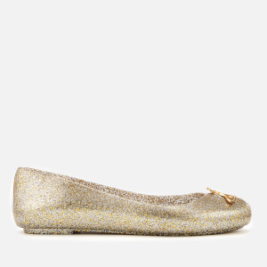 60a2789208d Vivienne Westwood for Melissa Women s Space Love 21 Ballet Flats - Gold  Glitter Orb