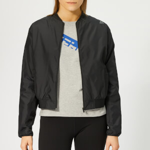 Reebok Women's Wor Comm Woven Jacket - Black