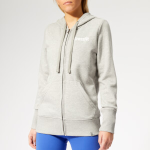 Reebok Women's CrossFit Zip Hoodie - Grey Heather