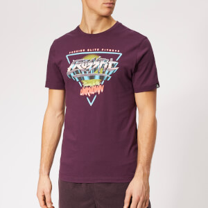 Reebok Men's Crossfit Neon Retro Short Sleeve T-Shirt - Purple