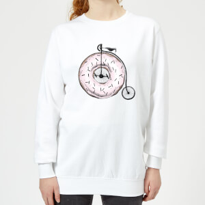 Barlena Donut Ride My Bicycle Women's Sweatshirt - White