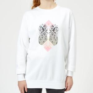 Barlena Tropical Women's Sweatshirt - White