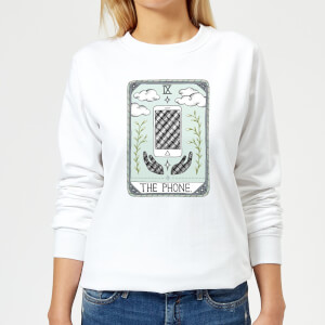 Barlena The Phone Women's Sweatshirt - White