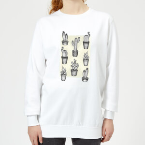 Barlena Prickly Friends Women's Sweatshirt - White