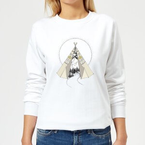 Barlena Into The Wild Women's Sweatshirt - White