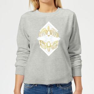 Barlena Moth Women's Sweatshirt - Grey
