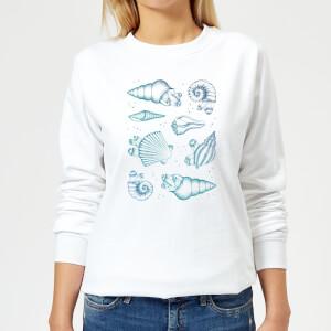 Barlena Ocean Gems Women's Sweatshirt - White