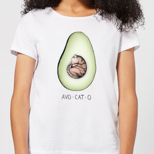 Barlena Avo-Cat-O Women's T-Shirt - White