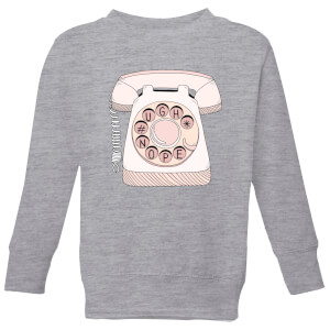 Barlena Phone Call Kids' Sweatshirt - Grey