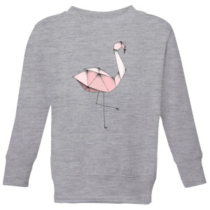 Barlena Flamingo Kids' Sweatshirt - Grey