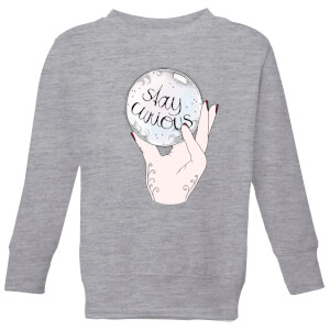 Barlena Stay Curious Kids' Sweatshirt - Grey