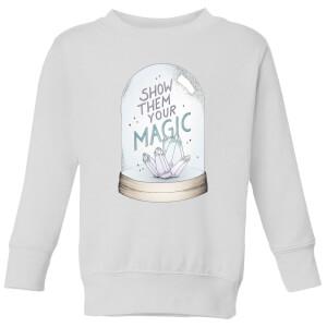 Barlena Show Them Your Magic Kids' Sweatshirt - White