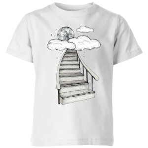 Barlena To The Moon and Back Kids' T-Shirt - White