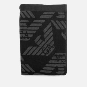 Emporio Armani Men's Logo Towel - Black