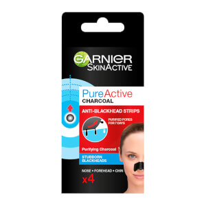 Garnier Pure Active Charcoal Anti-Blackhead Nose Strips x 4