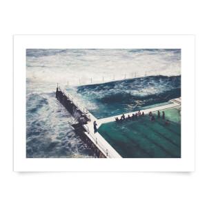 Liam Burleigh Stormy Sea Art Print