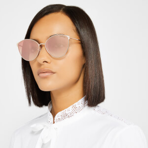 Tom Ford Women's Zeila Sunglasses - Gold/Violet: Image 4