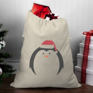 Penguin Face Christmas Santa Sack