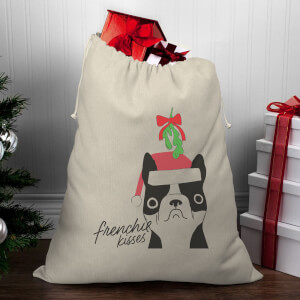 Frenchie Kisses Christmas Santa Sack
