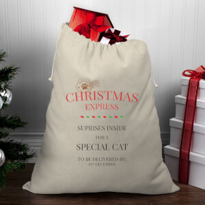 Christmas Express for A Special Cat Christmas Santa Sack