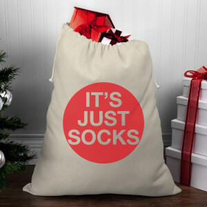 It's Just Socks Christmas Santa Sack