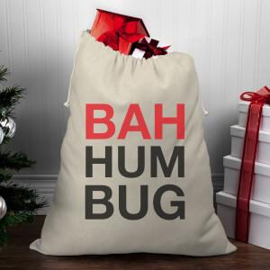 Bah Humbug Christmas Santa Sack