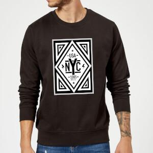 NYC Diamond Sweatshirt - Black
