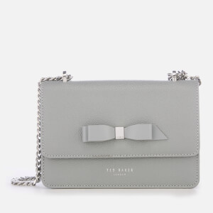 Ted Baker Women's Jayllaa Bow Detail Micro Cross Body Bag - Grey