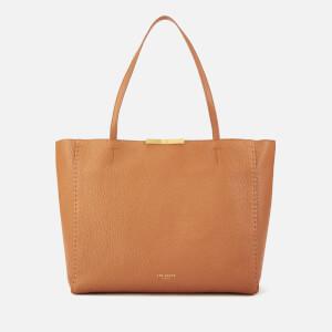 Ted Baker Women's Clarkia Soft Grain Faceted Bar Shopper Bag - Tan