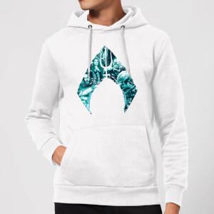 Aquaman Logo Hoodie - White