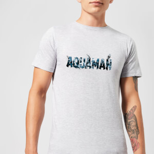 Aquaman Chest Logo Men's T-Shirt - Grey