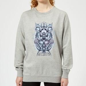 Aquaman Atlantis Seven Kingdoms Women's Sweatshirt - Grey