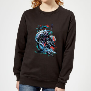 Aquaman Black Manta & Ocean Master Women's Sweatshirt - Black
