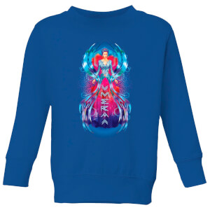 Aquaman Mera Hourglass Kids' Sweatshirt - Royal Blue