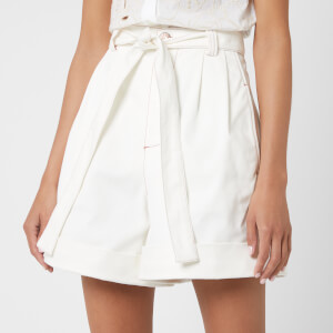 See By Chloé Women's High Waisted Shorts - White