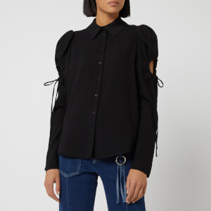 See By Chloé Women's Tie Sleeve Detail Shirt - Black