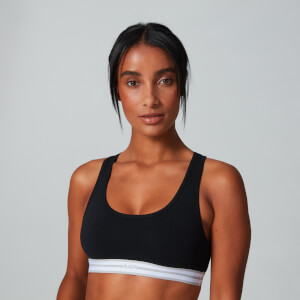 Logo Crop Top (2-Pack) - Musta